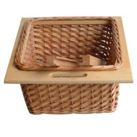 Pullout wicker basket kitchen components direct for 200mm wide kitchen unit
