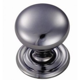 Chrome Victorian knob with rose