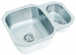 one and a half bowl undermount sink